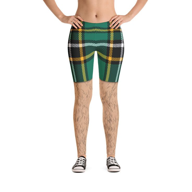 Irish Tartan Hairy Leggings