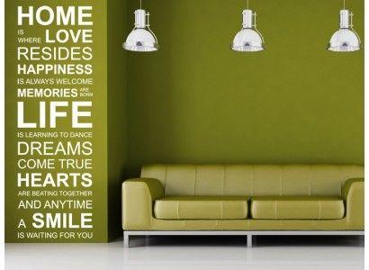 Otthon az,ahol a szeretet lakozik....idézetek falmatrica