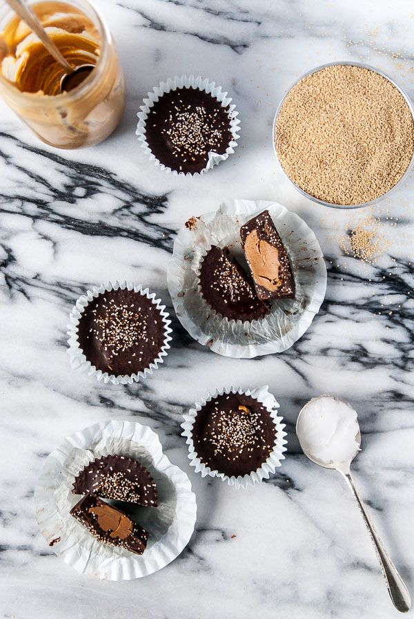 Popped Amaranth Peanut Butter Cups (Vegan, Gluten Free) | The Frosted Vegan