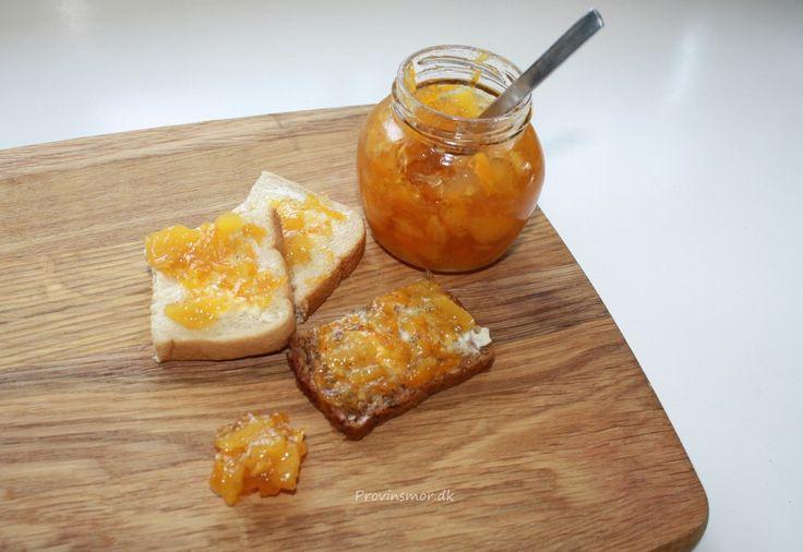 Marmelade med nektarin og gulerødder - opskrift