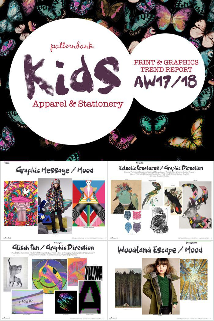 The Patternbank team are excited to launch the latest AW17/18 Print Trend Report focused towards Kidswear