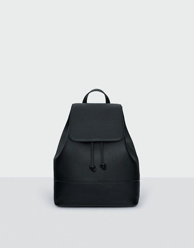 Basic black backpack - Kabelky - Doplňky - Ženy - PULL&BEAR Czech Republic