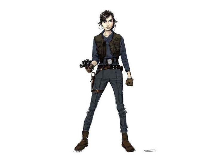 Jyn Erso Hero Costume Version 1X. Concept art from Glyn Dillon. © Abrams Books, 2016 (C) 2016 Lucasfilm Ltd. And TM. All Rights Reserved. Used Under Authorization