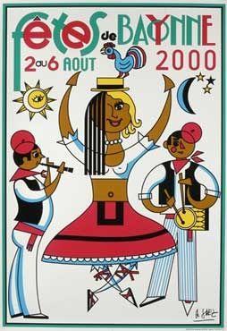 Affiche des fêtes de Bayonne en 2000