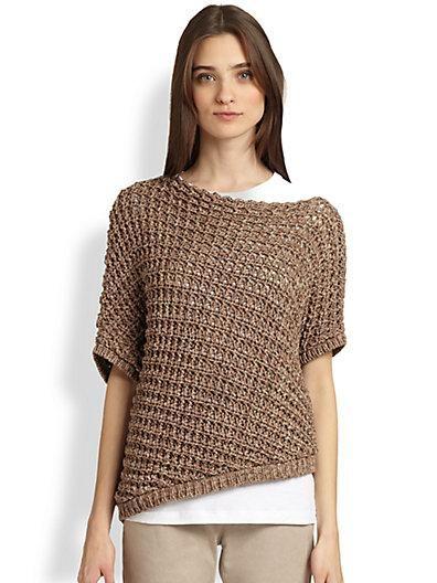 Brunello Cucinelli Diamond Stitch Knit Top ++ Saks #pintowin http://blog.saksfifthavenue.com/features/pinterestcontest2013