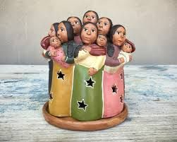 Image result for folk art ceramic figurines groups