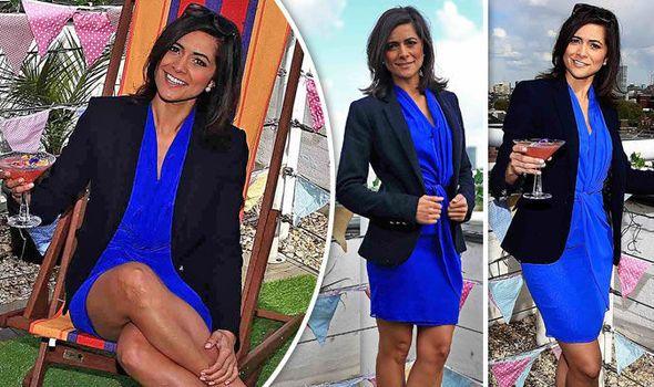 Lucy Verasamy ITV Weather dress Amazon party