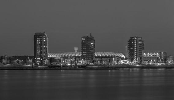 Feyenoord Rotterdam stadium at Night - part two