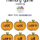 A pumpkin themed memory game to reinforce the following helping verbs: have, has, had, am, is, are, was, were, and will. ...