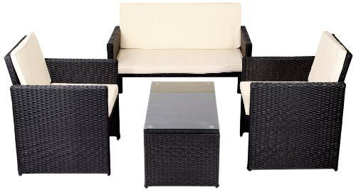 17 Best images about gartenideen on Pinterest Ikea, Chairs and - gartenmobel polyrattan schwarz