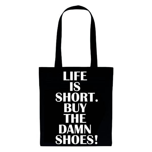 LIFE IS SHORT * Jutebeutel  *DIE JUTEN* von DIE JUTEN auf DaWanda.com