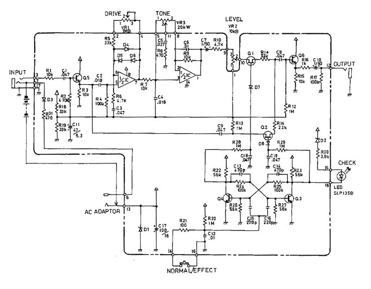 schematic diagram of boss sd 1 super overdrive pedal. Black Bedroom Furniture Sets. Home Design Ideas