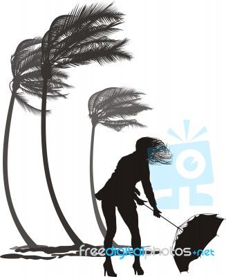 """""""Female In The Wind And Trees Palms"""" by Vlado at FreeDigitalPhotos.net"""
