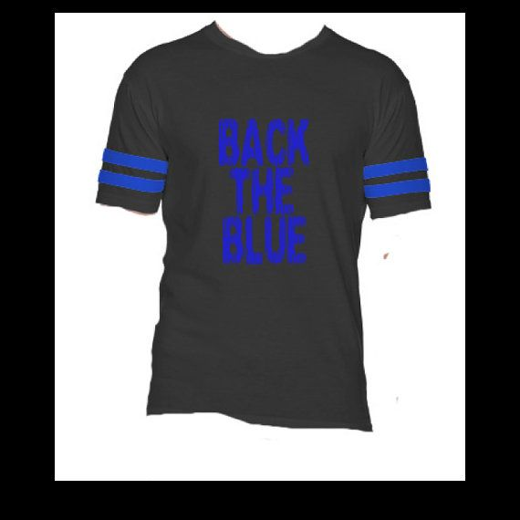 Back the Blue Police Shirt Thin Blue Line Law by StampedbyShaye
