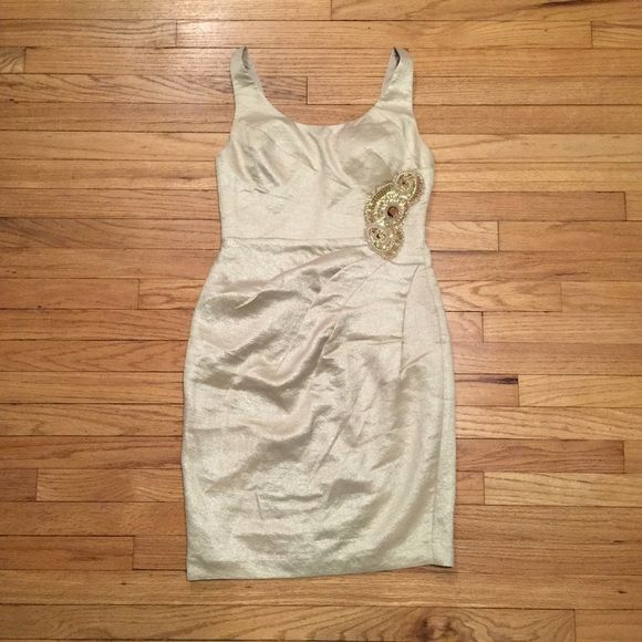 Adrianna Papell beige cocktail dress sz 2p Adrianna Papell occasions beige cocktail dress. Size - 2p. Armpit to armpit - 15.5 inches. Length - 34.5 inches. Excellent used condition. Worn maybe once or twice. Adrianna Papell Dresses