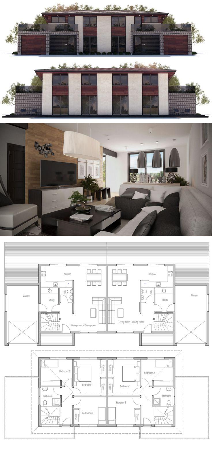 Plans maison duplex for Plan maison duplex