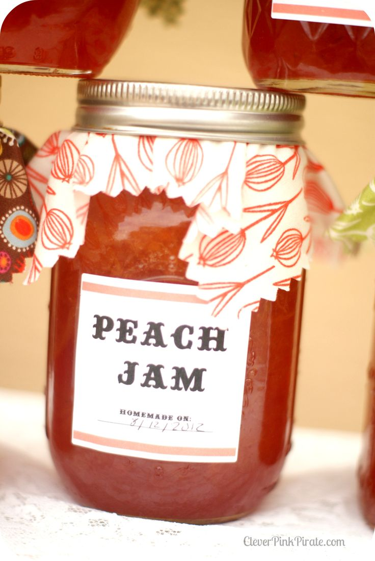 Peach Jam Canning Recipe & Tutorial w/ Printable  |  The Clever Pink Pirate