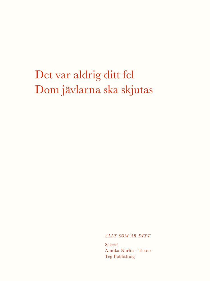 Annika Norlin - Allt som är ditt - Grafiskt blad