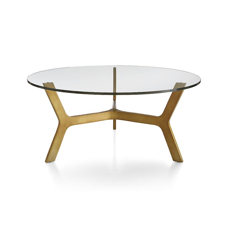 Elke Round Glass Coffee Table | Crate and Barrel