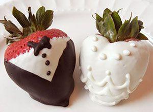 Tuxedo strawberries / Fresas en Smoking