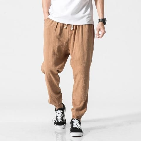 4ed93ab8ad6 New 2017 mens summer pants Casual men linen pants Male black Harem Pants  sweatpants Baggy jogger pants Trousers for man M-5XL