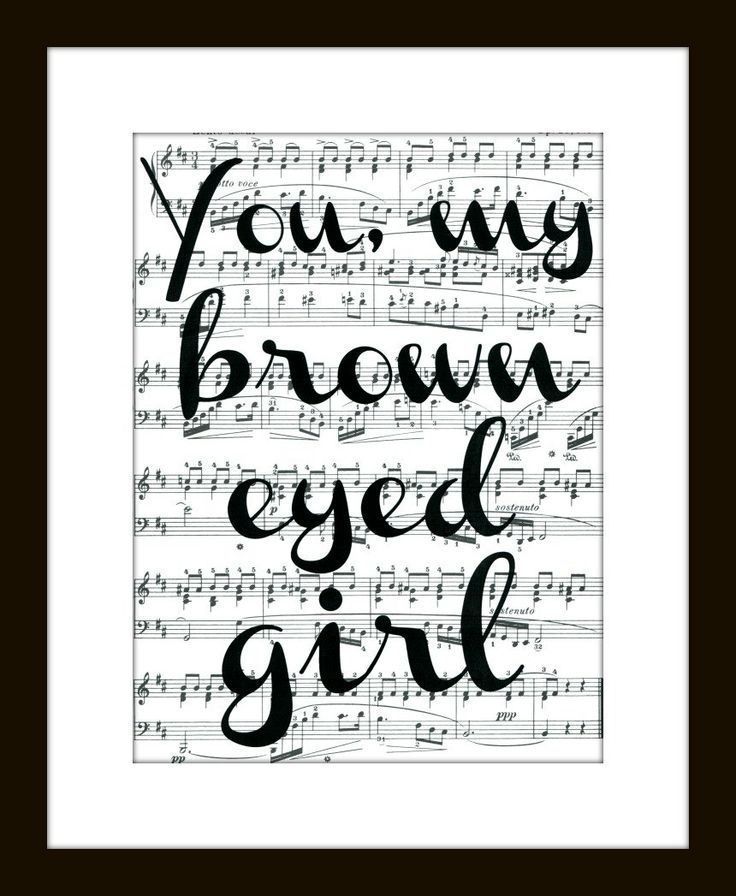 My daddy sang this song to me when I was little. Brown ...