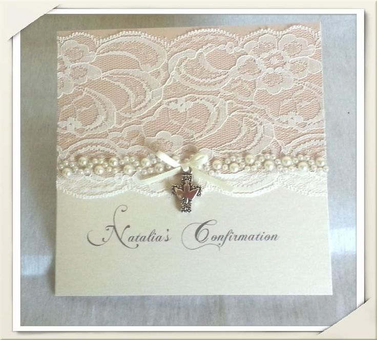 NATALIA - ivory bifold invite with lace and pearl detail