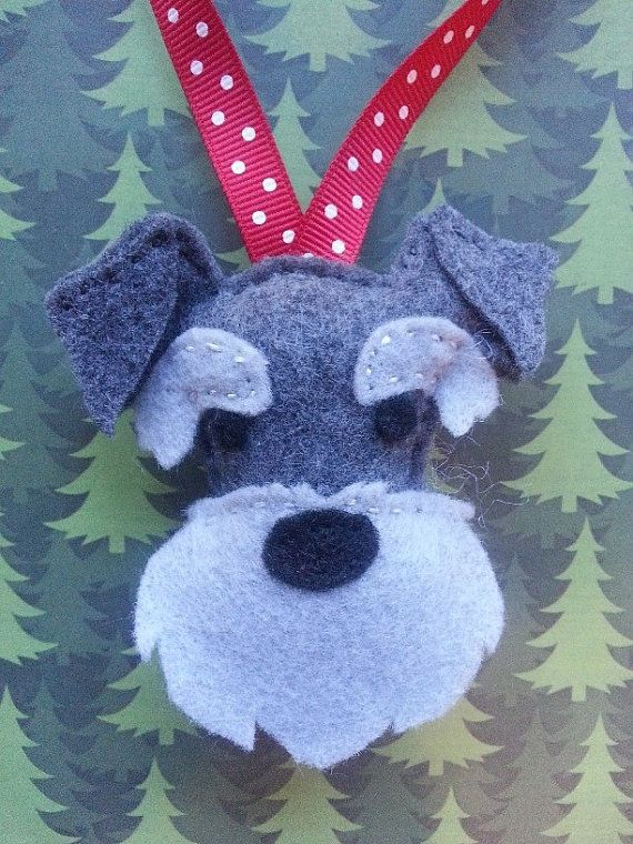 Made to order    Hand Sewn Felt Christmas Tree Ornament / Stocking Stuffer    designed, hand cut and hand stitched by me in my smoke and pet