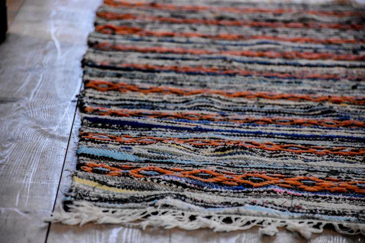 Swedish vintage rag rug 0628 - Rugs of Sweden