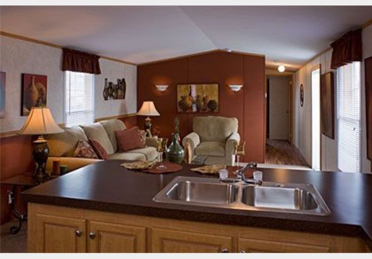 121 best images about mobile home living on pinterest for Single wide mobile home kitchen ideas