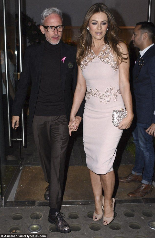 Elizabeth Hurley in a shape-hugging pink dress at YOU magazine's charity event | Daily Mail Online