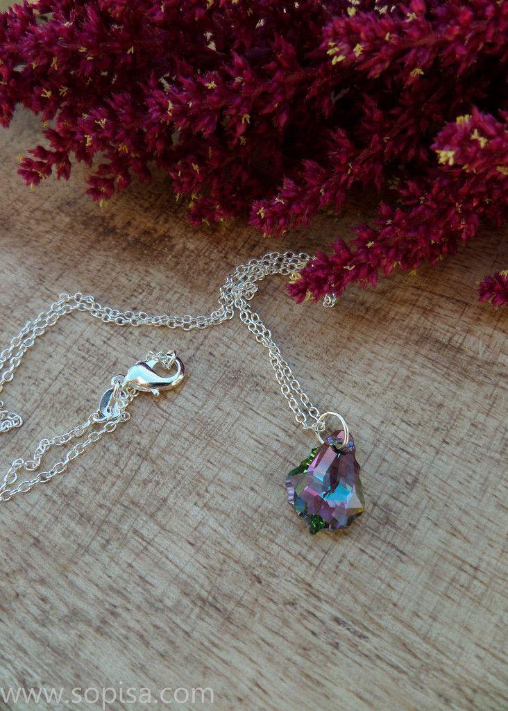 Necklace With Swarovski Crystal 14.99$  #swarovski #necklace #sopisa