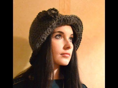 cappello casual all'uncinetto - YouTube