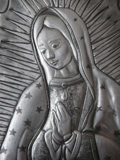 "REPUJADO, ""Arte en Metal"": Virgen de GUADALUPE"