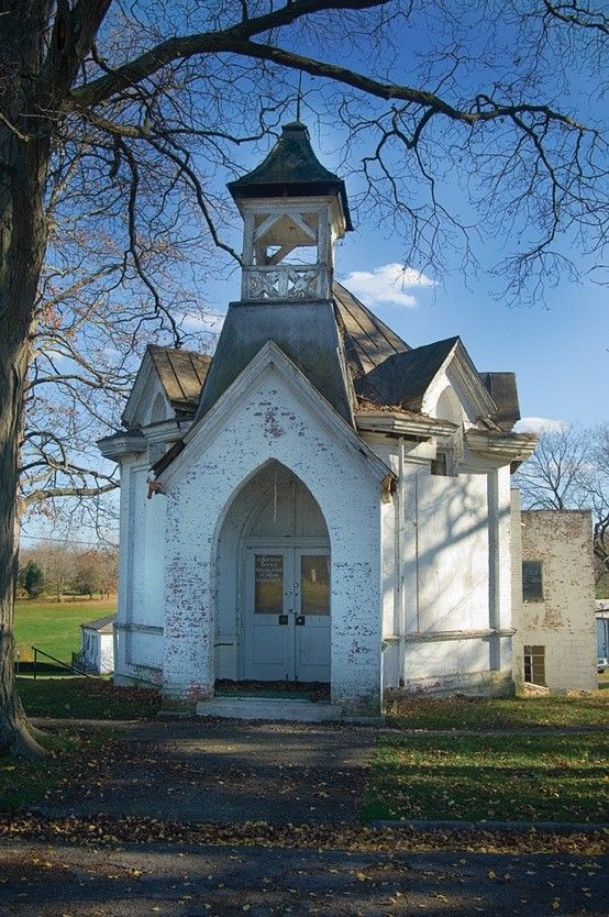 Gothic Revival Chapel in Mt. Olivet Cemetery, Nashville, Tennessee                                                                                                                                                      More