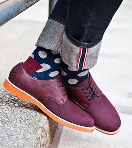Cuff jeans + fun socks