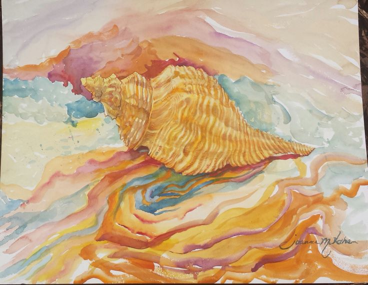 """Had a blast talking with Debbie, a teacher in Sanford. She said it reminded her of the golden mean and the Fibonacci sequence in math...I've read about artists who use that to paint. So, naturally, the finished work is now entitled, """"The Golden Mean."""""""