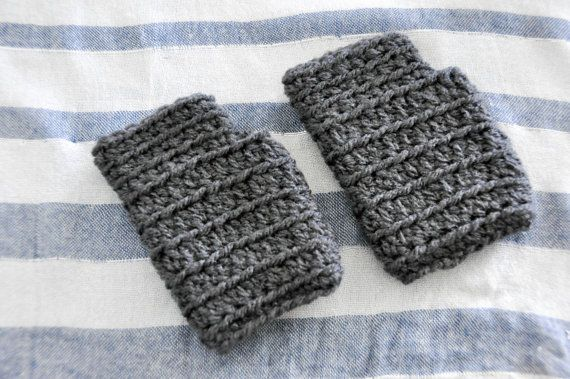 Charcoal Baby Boy or Girl HANDWARMERS / Fingerless GLOVES / MITTENS - Great Gift -