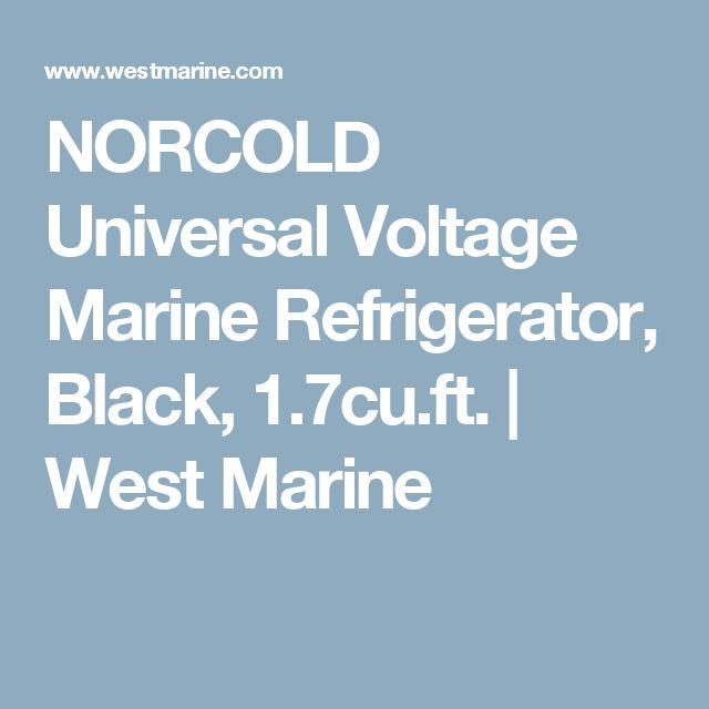 Universal Voltage Marine Refrigerator Black 17cuft Conversion VanRefrigeratorMarinesRefrigerators