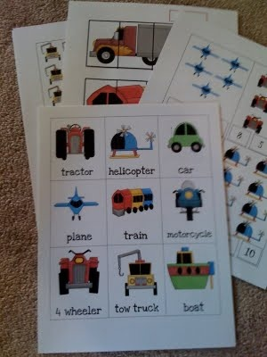 transportation cards...I already have them printed, laminated, and set up for centers!! ;)