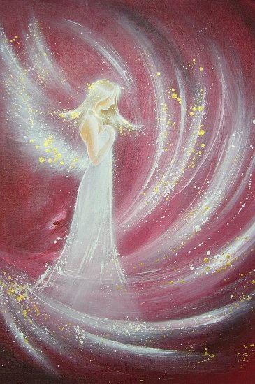 """Angel Energy"" Limited angel art photo, modern angel painting, artwork, acrylics, Engelbild, moderne Engel, Bild. €10.00, via Etsy."