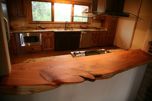 I Love This Cedar Countertop Beautiful Primitive
