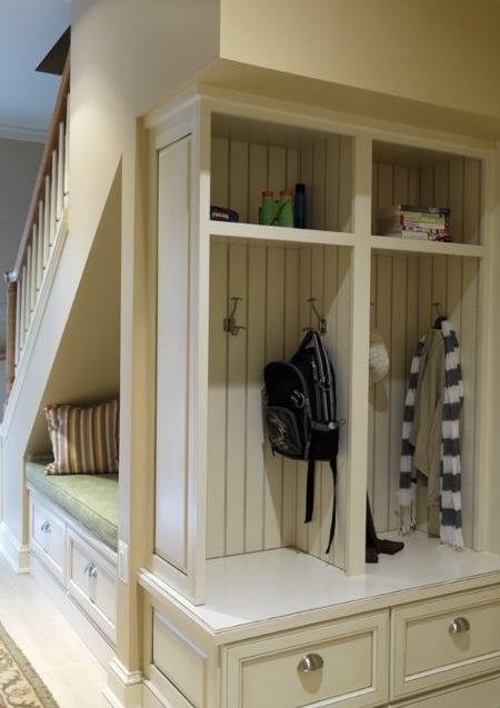 Hmm, I was thinking that I would like a closet by the back door but something like this might actually work, too.