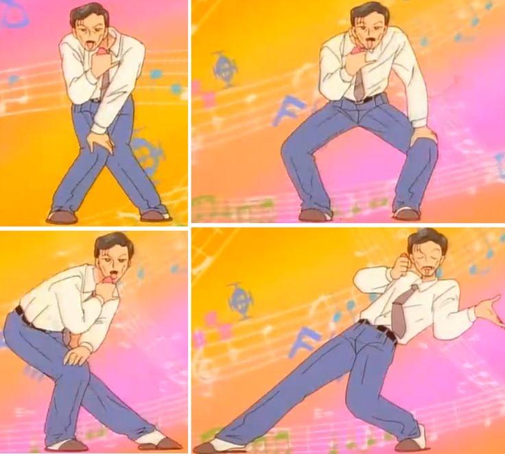 Akito's Dad Getting Down - Kodocha