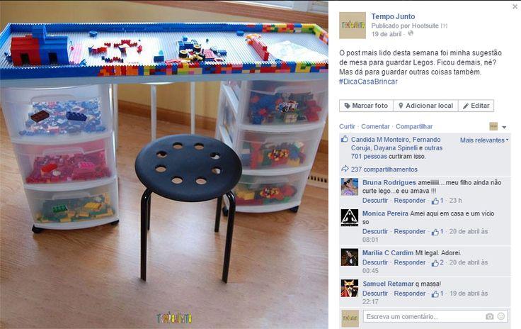 Mais 10 maneiras diferentes de brincar de Lego - mesa de lego
