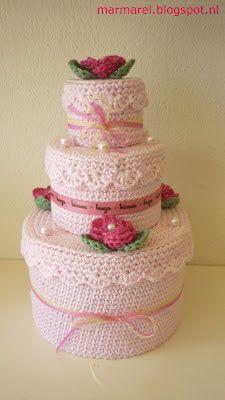 Marmarel: Een gehaakte taart, een Koosje voor juf en héél ve...