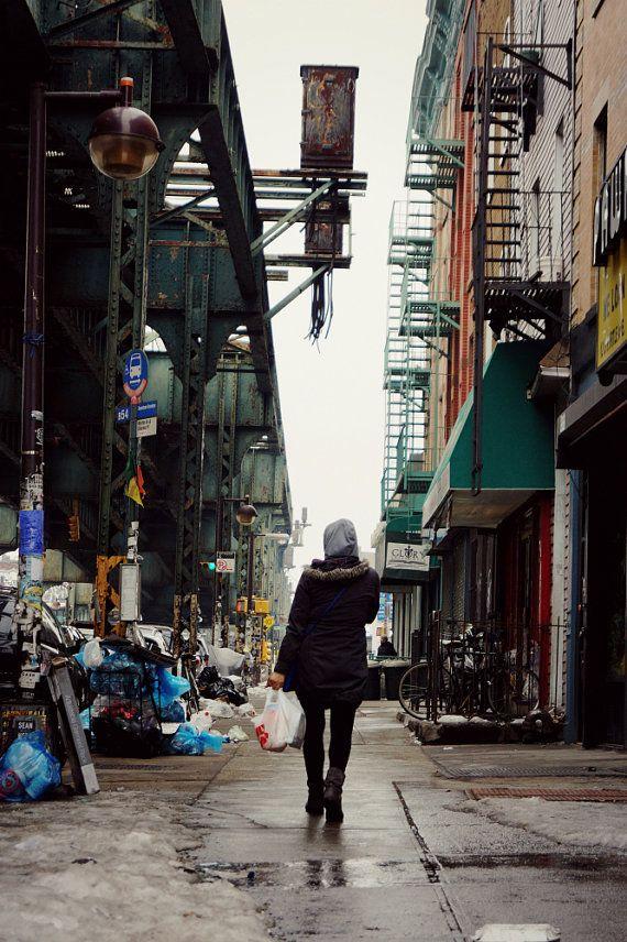 Walking Through Bushwick Brooklyn Photography Print New by thebqe