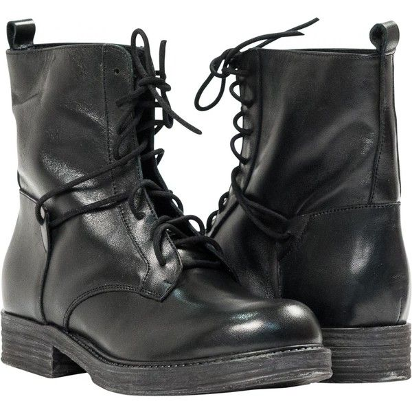 "Erin Black ""Nero"" Leather Combat Boots found on Polyvore"