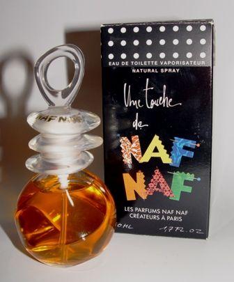 Une touche de Naf Naf. Encore un parfum pas cher pour adolescentes des années 90