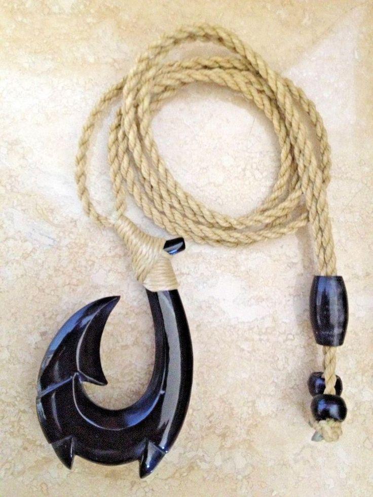 how to tie a hawaiian fish hook necklace